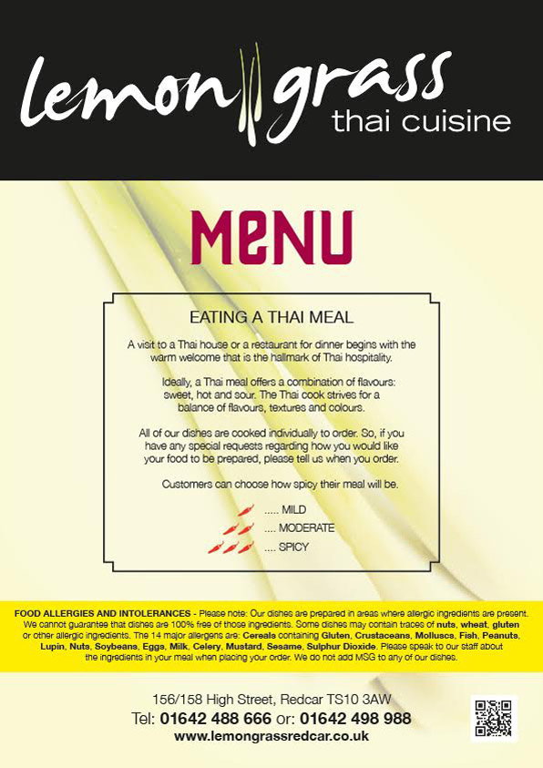 Lemon Grass Thai Cuisine Redcar Cleveland